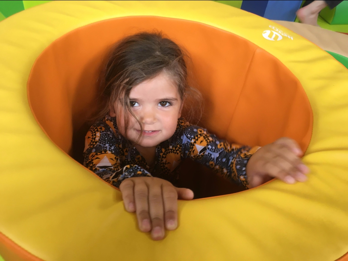 Child at soft play session